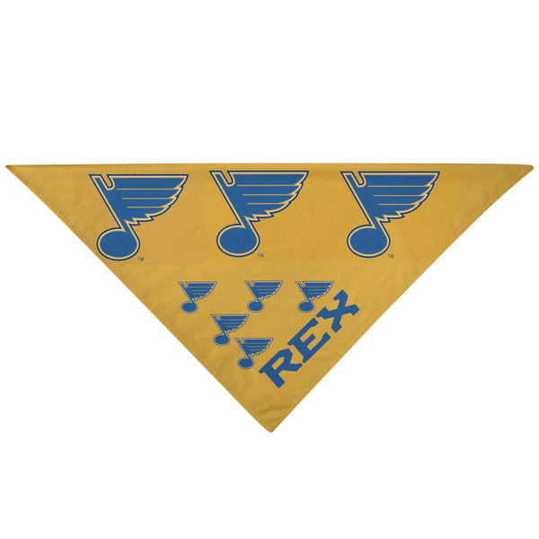 St Louis Blues Dog Pet Bandana - silverageproducts.com