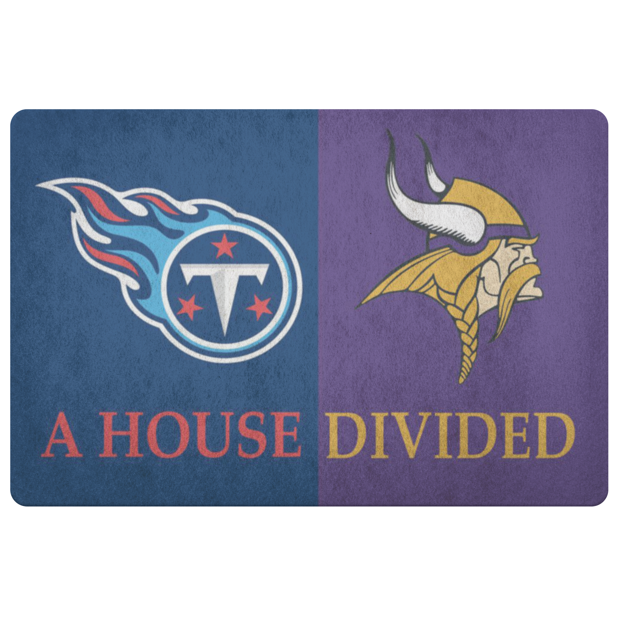 Vikings Titans Doormat NFL Sports Doormat - silverageproducts.com