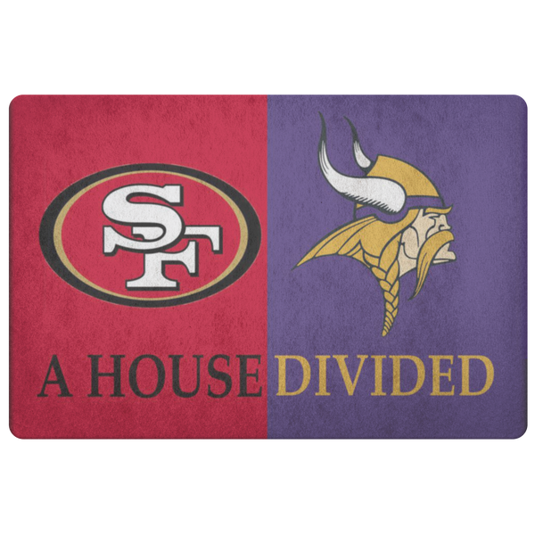 vikings 49ers doormat - silverageproducts.com
