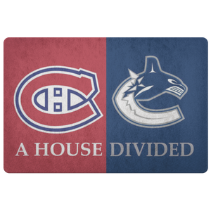Vancouver Canucks Montreal Canadiens Doormat - silverageproducts.com