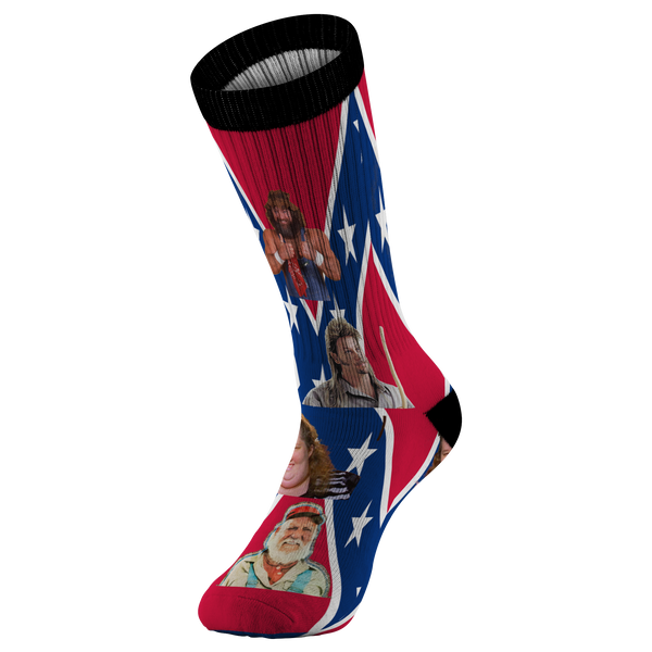 redneck hillbilly hall of fame confederate dukes of hazzard socks - silverageproducts.com