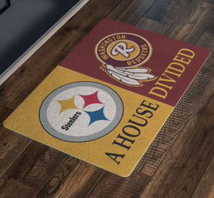 Pittsburgh Steelers and Washington Redskins Football Doormat - silverageproducts.com
