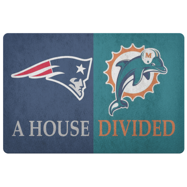 Dolphins Patriots Doormat - silverageproducts.com