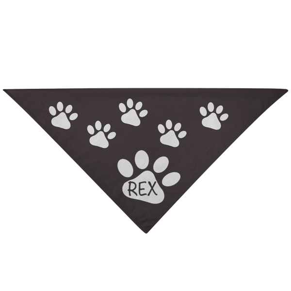 Dog Pet Bandana Customizable Dog Name Black - silverageproducts.com