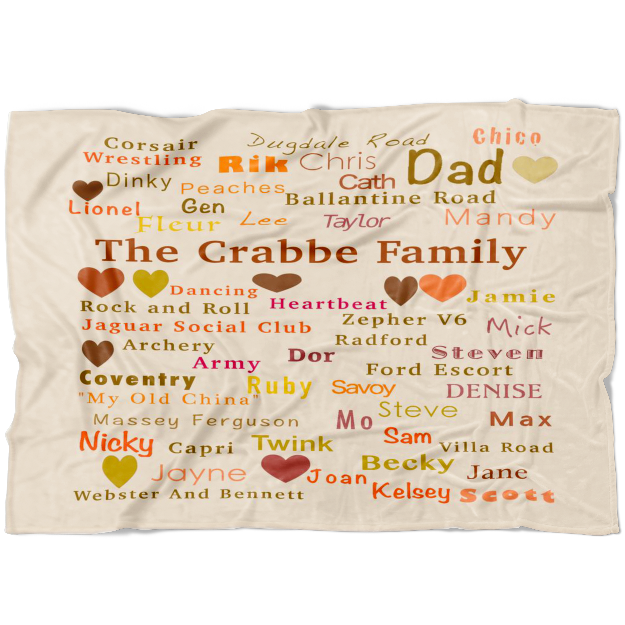 Crabbe Blanket 2 Fleece Throw Family Blanket - silverageproducts.com