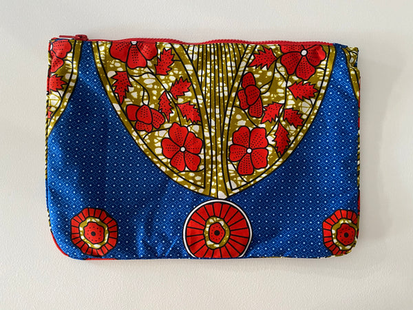 La Plage pouch in Red Poppy