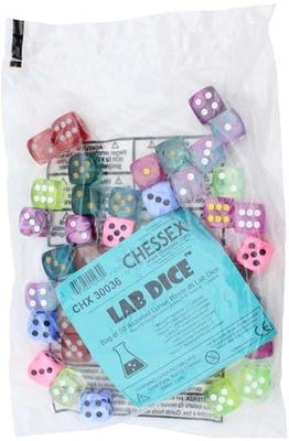 Chessex Bag of 16mm 50d6 Lab Dice 2: Assorted