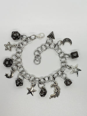 Wyvern Workshop Mini Dice Set Charm Bracelet