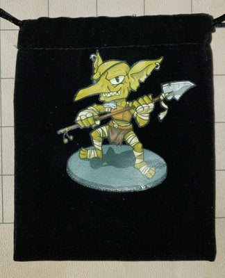 Goblin Fighter Velour Dice Bags