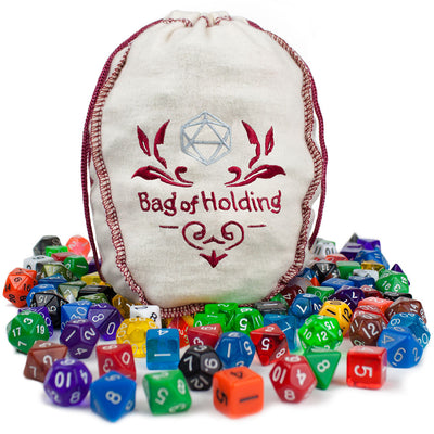 Bag of Holding + 20 Complete Dice Sets - Splat Gaming