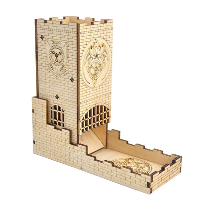 Castle Dice Tower with Tray