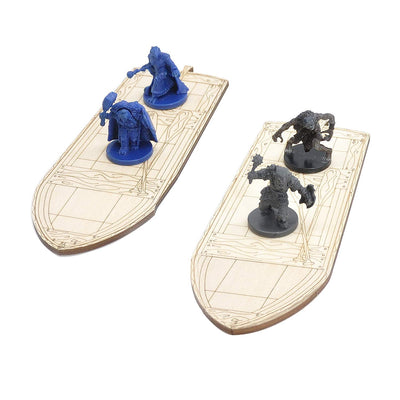 Wooden Row Boats - Set of 2