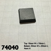 Bases - 20mm Square (25 pack) (74040)