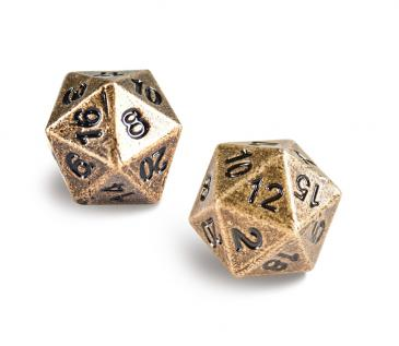 Ultra Pro Heavy Metal d20 - Antique Bronze
