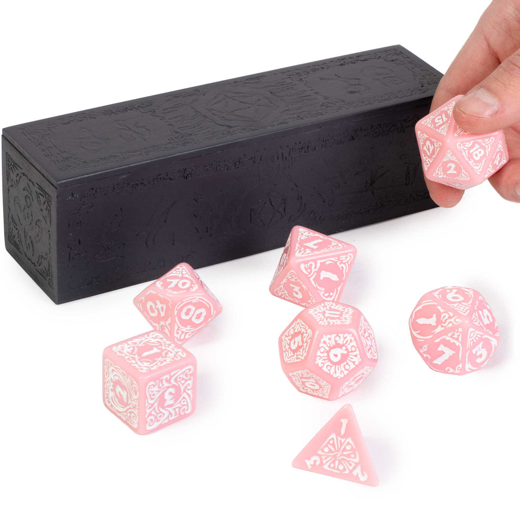 Titan Dice - Cherry Blossom with White Numbers (Jumbo)