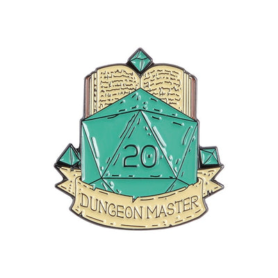 Dungeon Master d20 Pin
