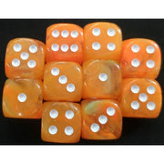 Chessex Festive Flare with White Dice - d6 (16mm)