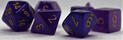 Chessex Borealis Royal Purple with Gold Dice - Set of 7