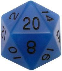 MDG Glow in the Dark: Blue w/ Black Numbers 35mm d20 (Jumbo)