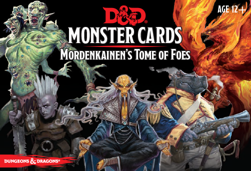 D&D Monster Cards:  Mordenkainen's Tome of Foes Deck