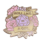 Roll Like A Girl Pin