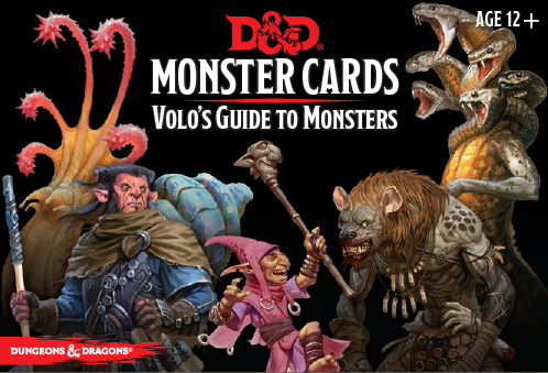 D&D Monster Cards: Volo's Guide to Monsters Deck