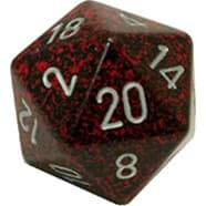 Chessex Speckled Silver Volcano 34mm d20 (Jumbo)