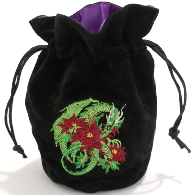 Embroidered Dragon Dice Pouch