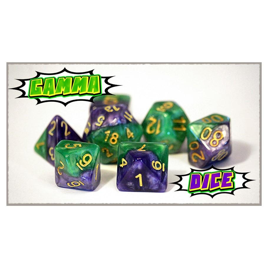 Halfsies Gamma Dice -Set of 7