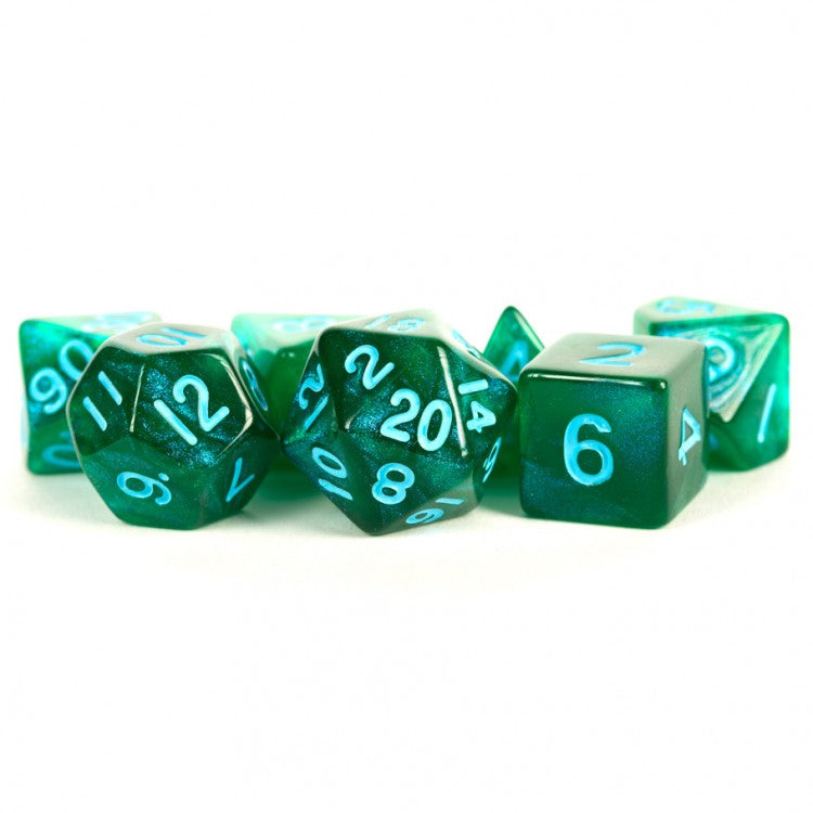 MDG Stardust: Green/Blue Dice - Set of 7