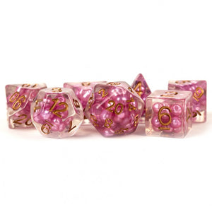 MDG Pearl Pink with Copper Dice - Set of 7