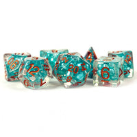 MDG Pearl Teal with Copper Dice - Set of 7
