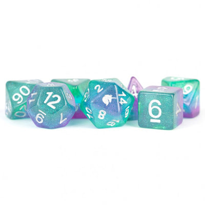 MDG Aurora Unicorn Dice - Set of 7