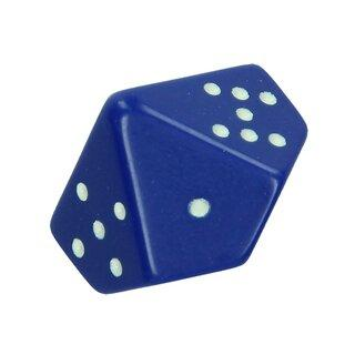 Chessex Blue w/ White Pips 10-sided die (d10)