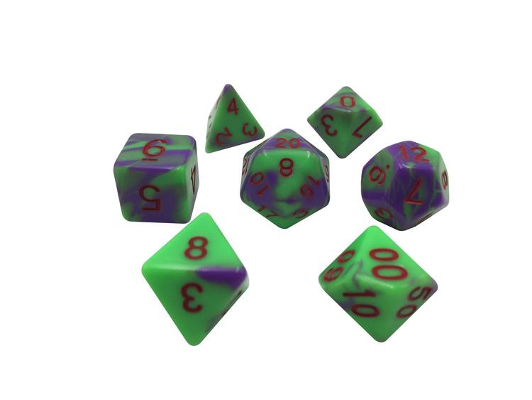 SkullSpliter Bad Brains Polyhedral Dice - Set of 7