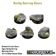 Kromlech 25mm Rocky Outcrop Round Bases - Pack of 10