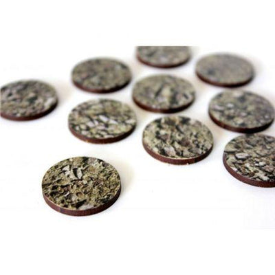 Bandua 25mm Round Pre-painted Stone Bases - Pack of 10