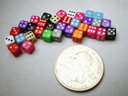 Koplow Assorted Opaque 5mm Mini Pipped 6-sided Die (d6)