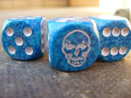 Death Dice - d6 with Skull