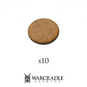 Warcradle Studios 25mm Round HDF Bases - Pack of 10