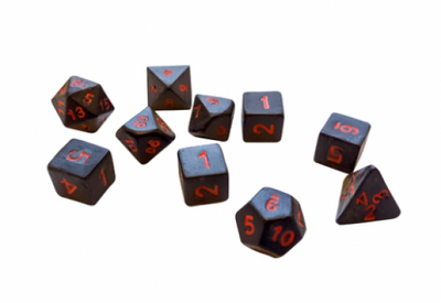 CTC Necromancer Ceramic Dice - Set of 7