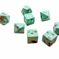 CTC Dark Castle Ceramic Dice - Set of 7