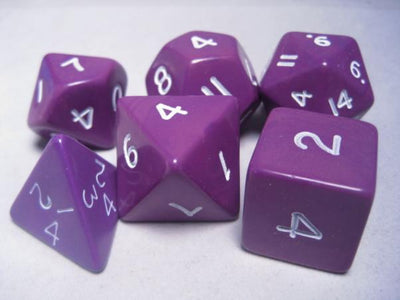 Koplow Jumbo Purple/White Polyhedral Dice (6Ct)