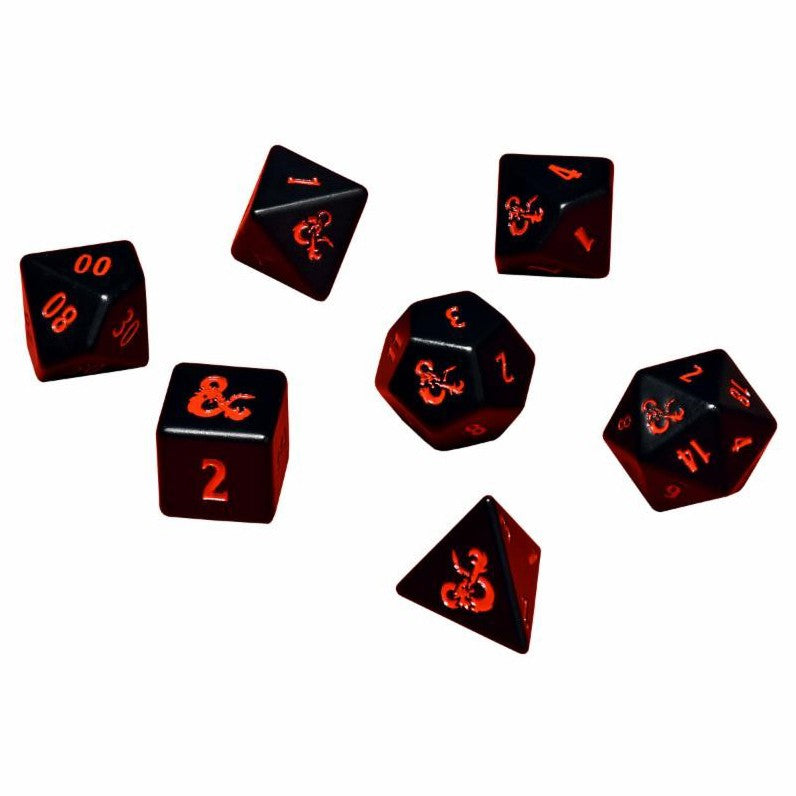 Ultra Pro Dungeons and Dragons Logo Heavy Metal Dice - Set of 7