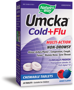 Umcka Cold + Flu Chewable 20tabs (Berry)