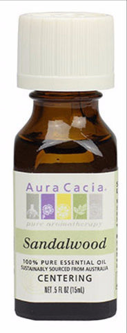 Aura Cacia Sandalwood Oil 0.5oz