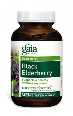 Gaia Black Elderberry 60caps