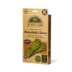 If You Care Cotton Flock Lined Household Gloves