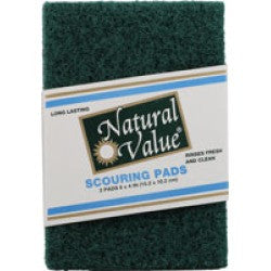 Natural Value Scouring Pads 2ct