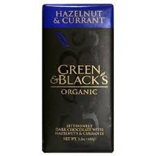 Green & Black Organic Dark Chocolate Hazelnut & Currant